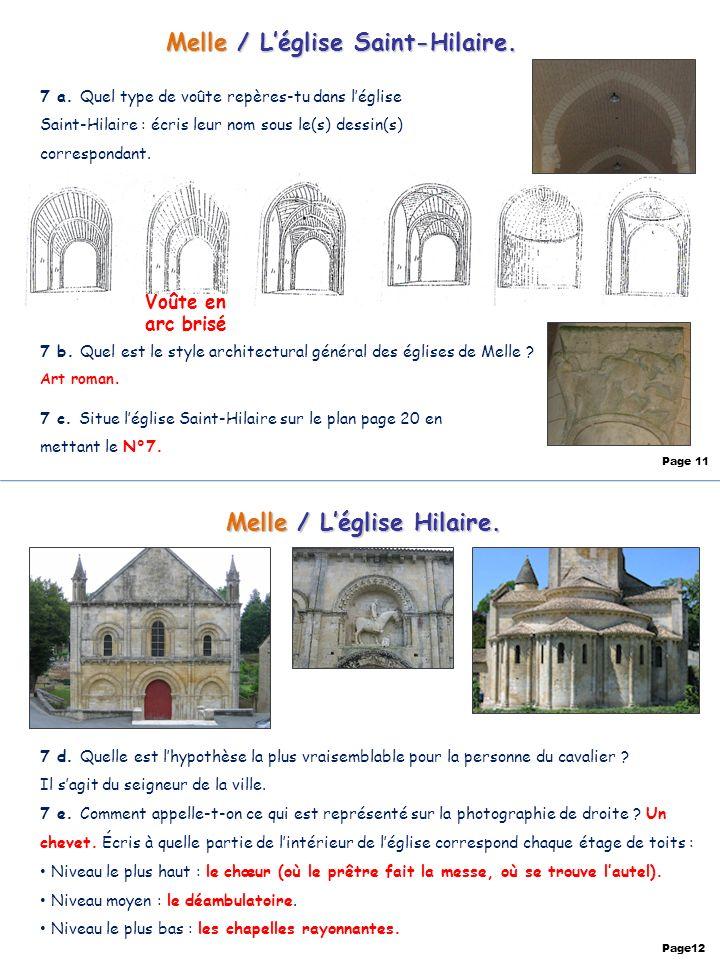 Melle / L'église Saint-Hilaire. Melle / L'église Hilaire.