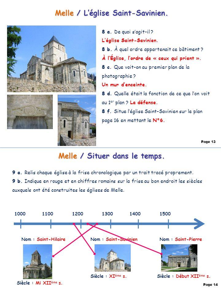 Melle / L'église Saint-Savinien. Melle / Situer dans le temps.