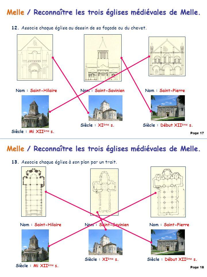 Melle / Reconnaître les trois églises médiévales de Melle.