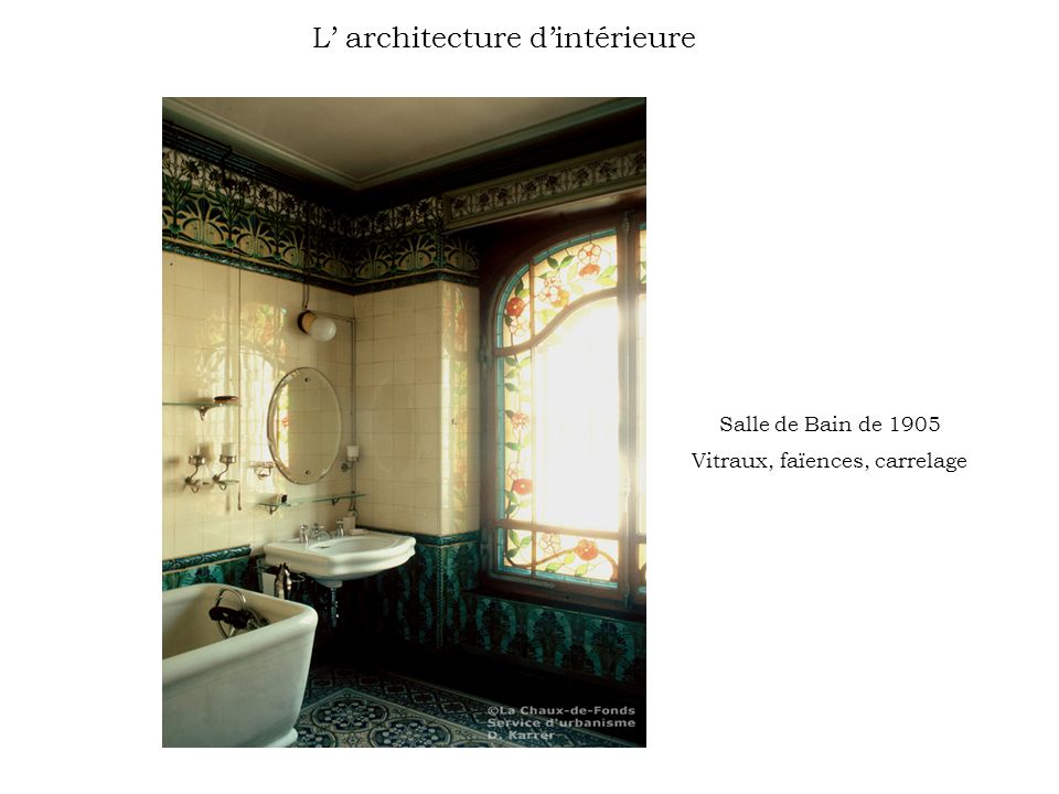 L' architecture d'intérieure