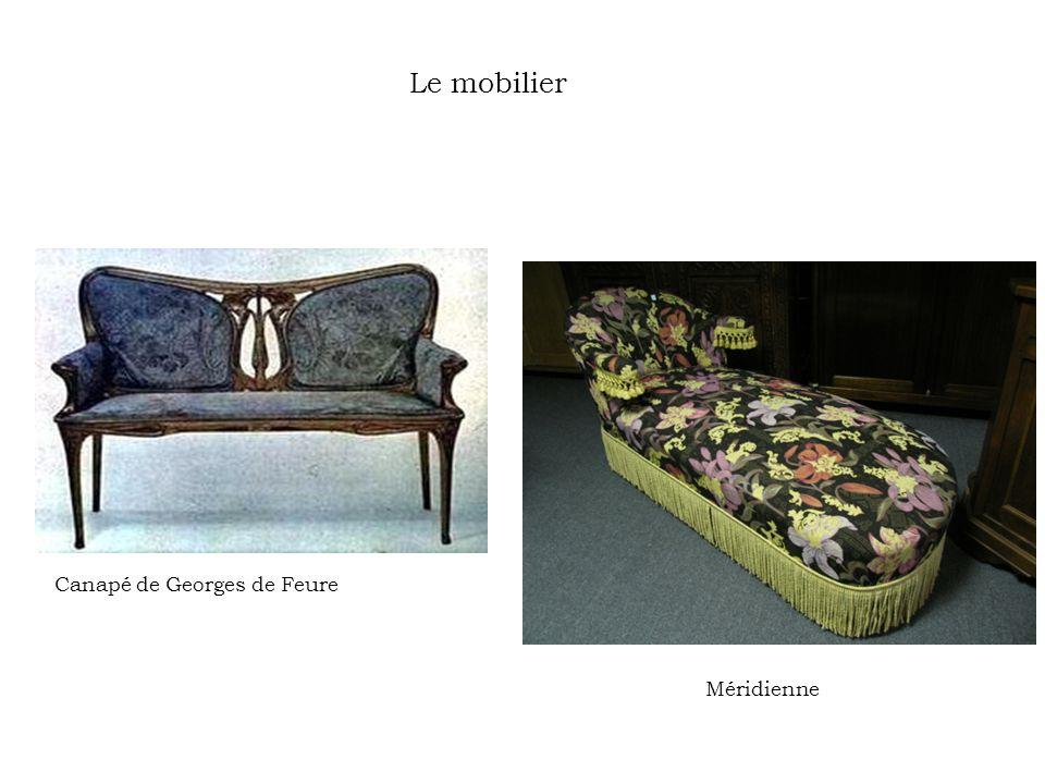 Le mobilier Canapé de Georges de Feure Méridienne