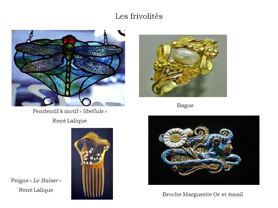 Les frivolités Bague Pendentif à motif « libellule » René Lalique