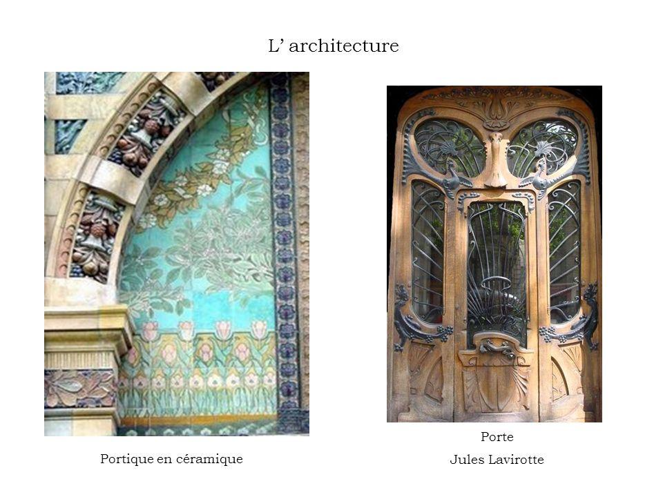 L' architecture Porte Jules Lavirotte Portique en céramique