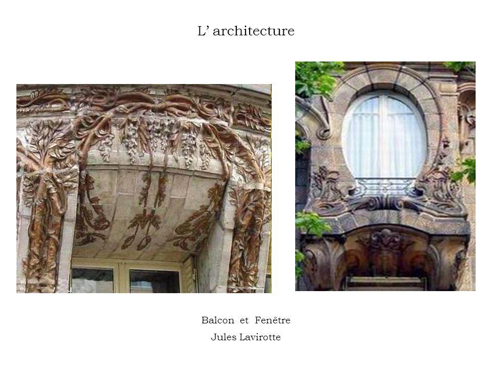 L' architecture Balcon et Fenêtre Jules Lavirotte