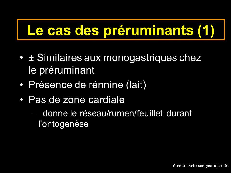 Le cas des préruminants (1)