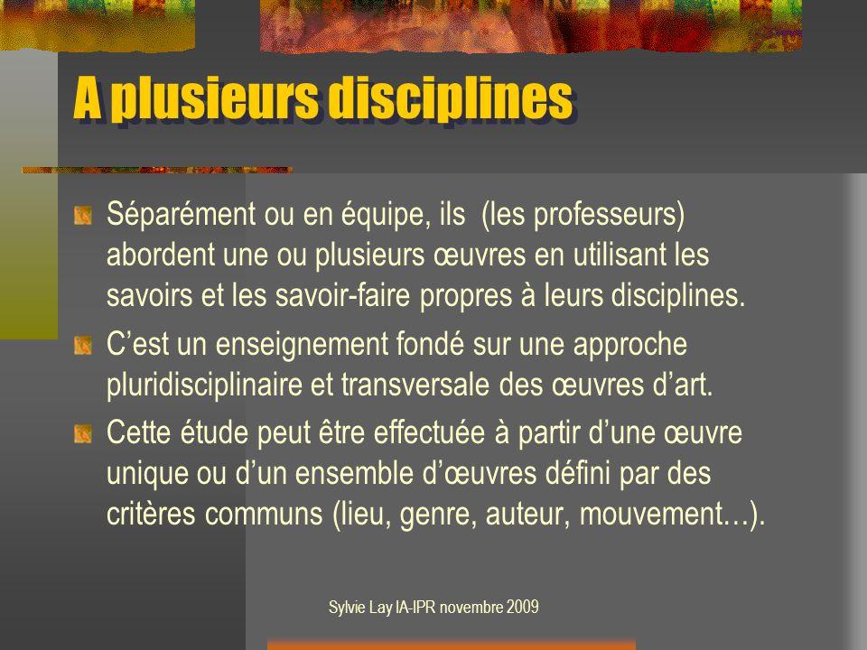 A plusieurs disciplines