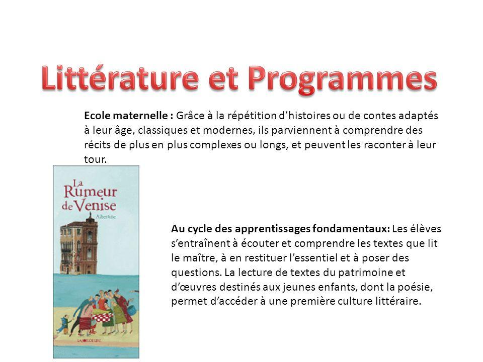 Littérature et Programmes