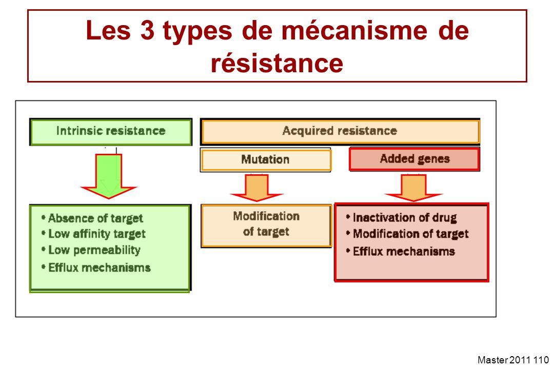 Les 3 types de mécanisme de résistance