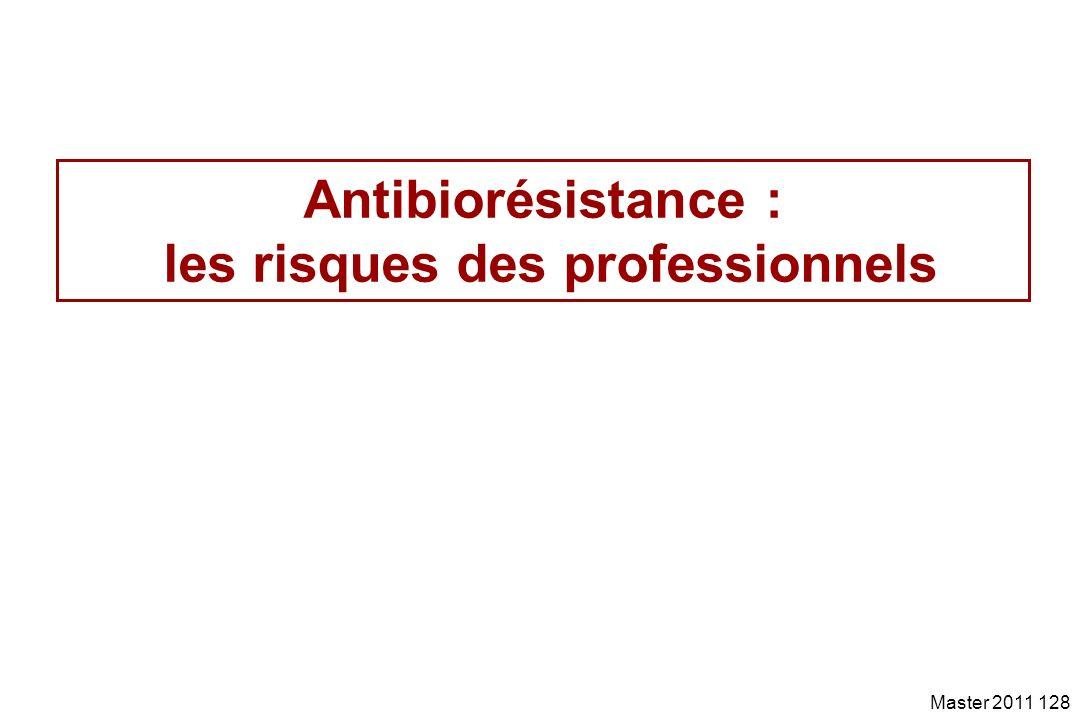 Antibiorésistance : les risques des professionnels