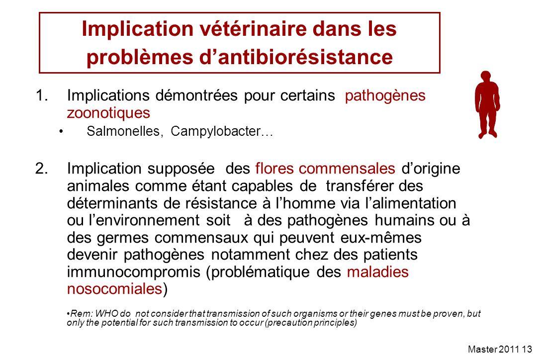 Implication vétérinaire dans les problèmes d'antibiorésistance