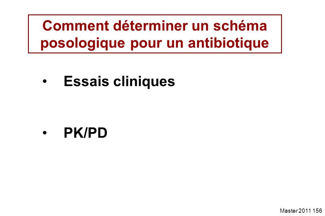 Comment déterminer un schéma posologique pour un antibiotique