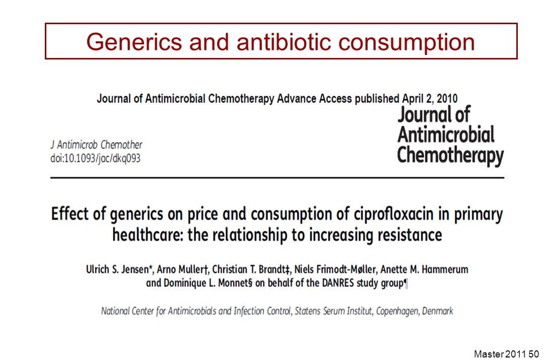 Generics and antibiotic consumption