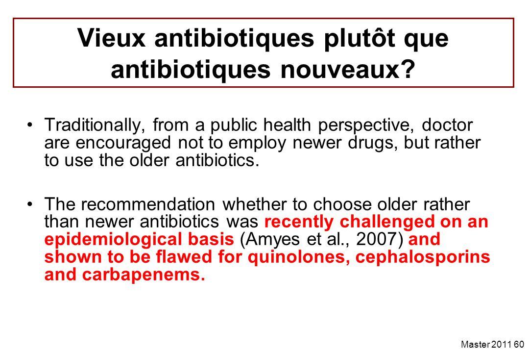 Vieux antibiotiques plutôt que antibiotiques nouveaux