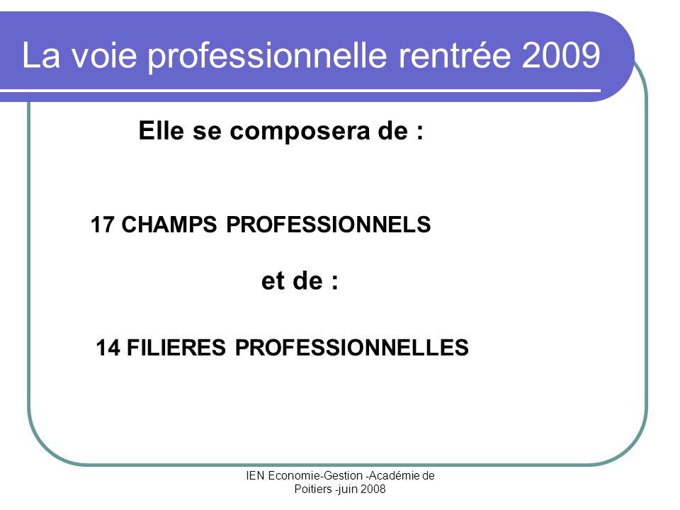 La voie professionnelle rentrée 2009