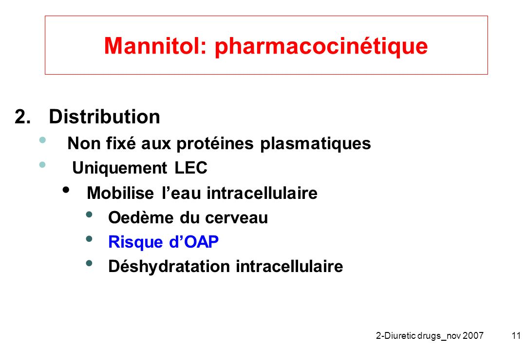 Mannitol: pharmacocinétique