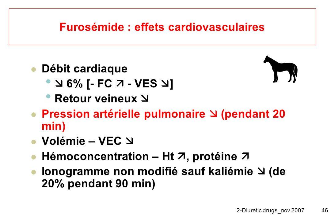 Furosémide : effets cardiovasculaires