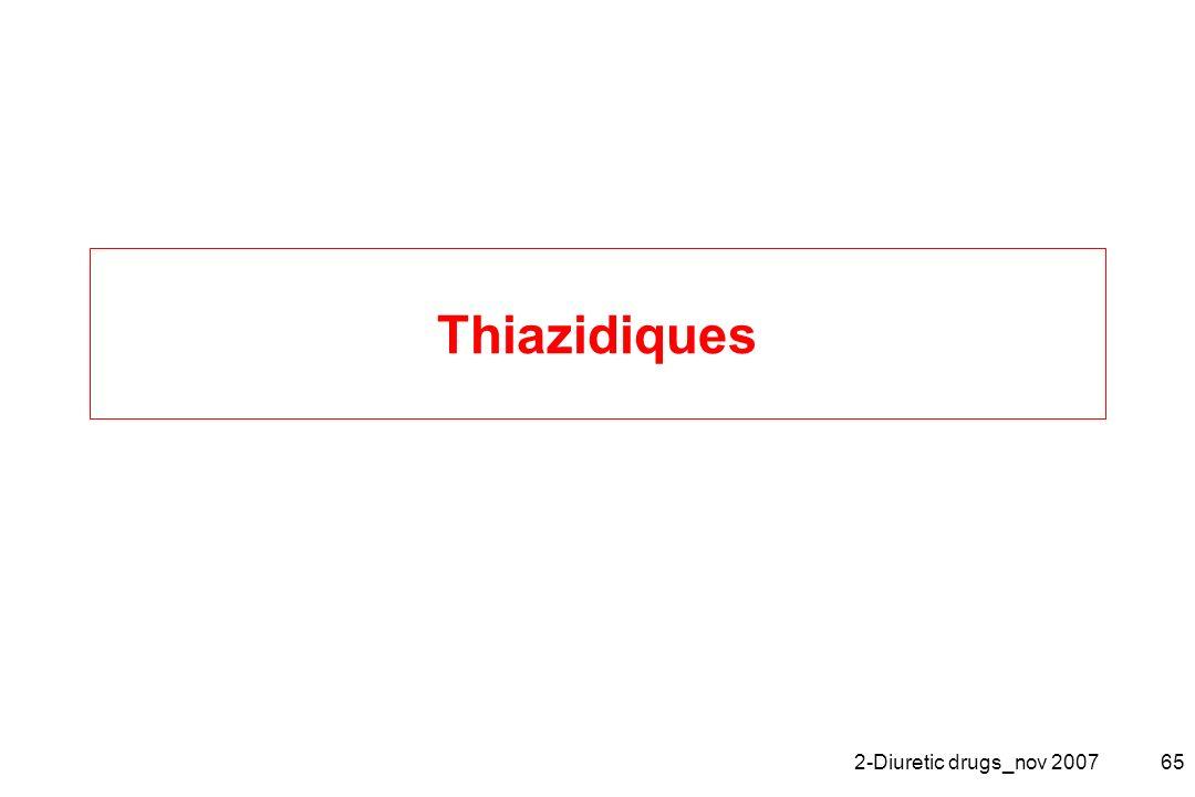 Thiazidiques 2-Diuretic drugs_nov 2007