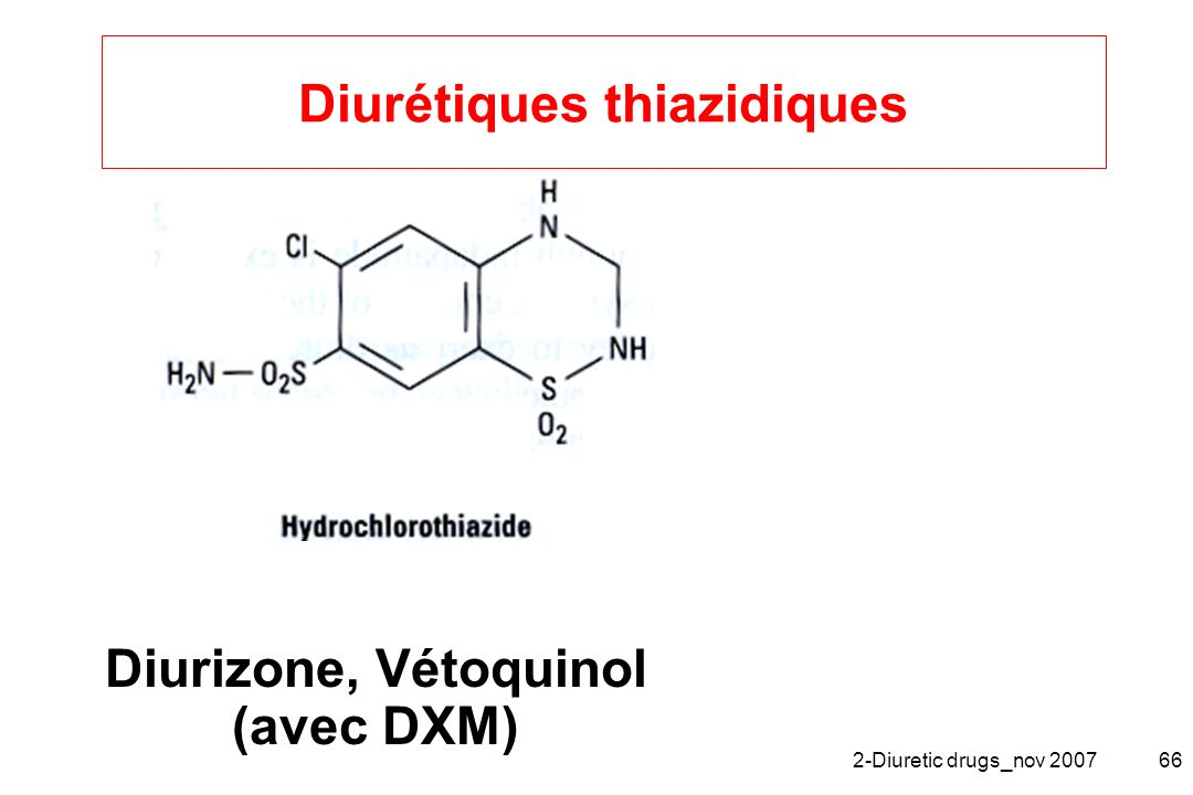 Diurétiques thiazidiques