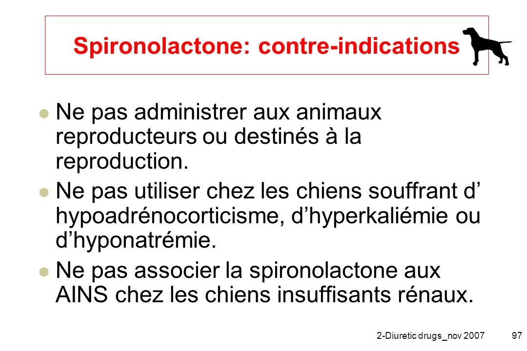Spironolactone: contre-indications