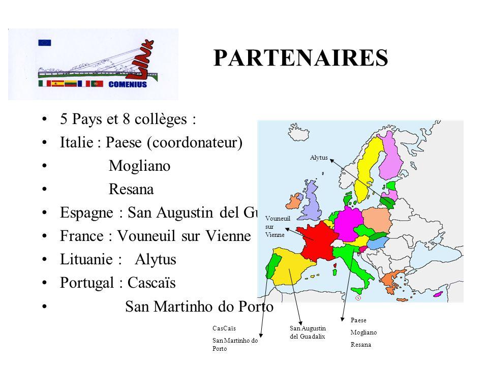 PARTENAIRES 5 Pays et 8 collèges : Italie : Paese (coordonateur)