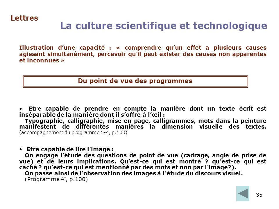 La culture scientifique et technologique