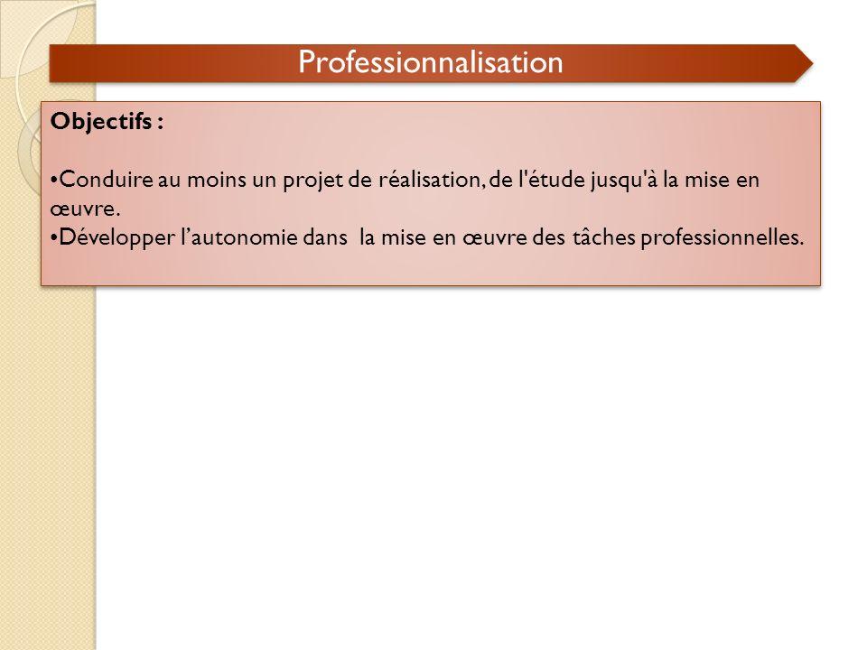 Professionnalisation