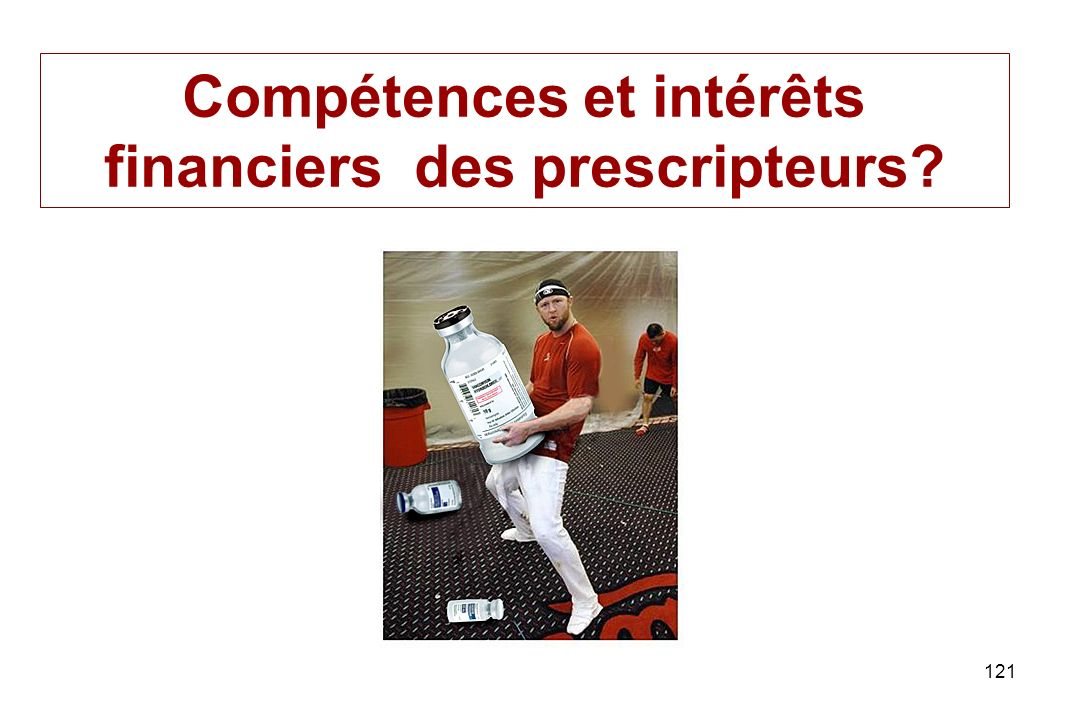 Compétences et intérêts financiers des prescripteurs