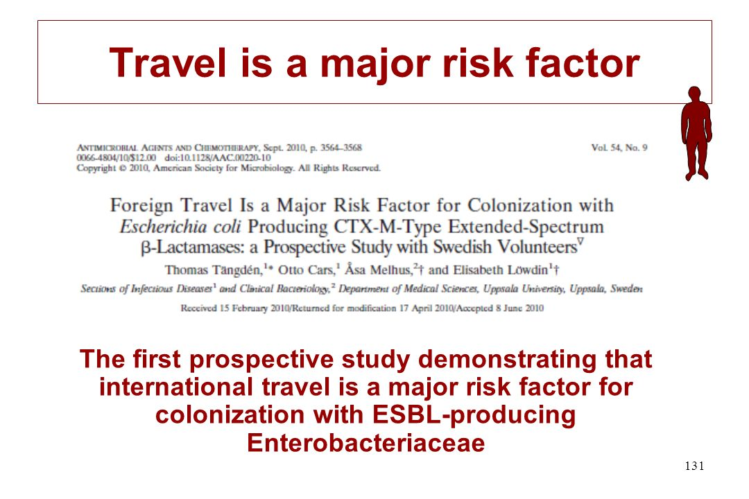 Travel is a major risk factor