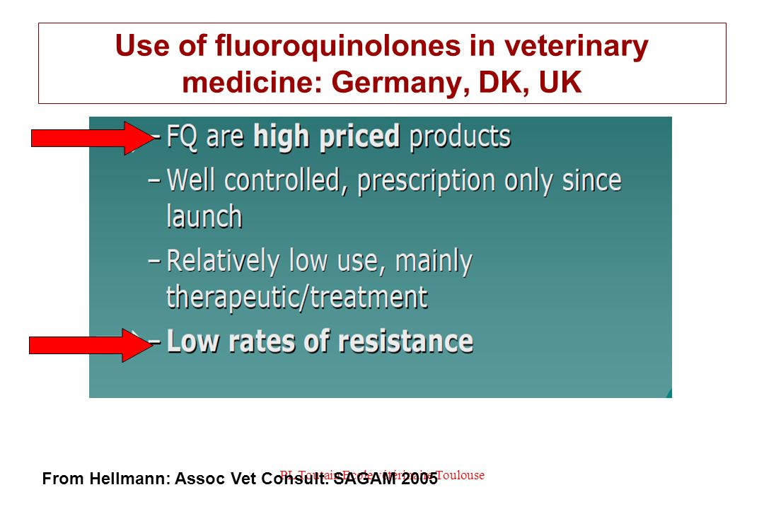 Use of fluoroquinolones in veterinary medicine: Germany, DK, UK