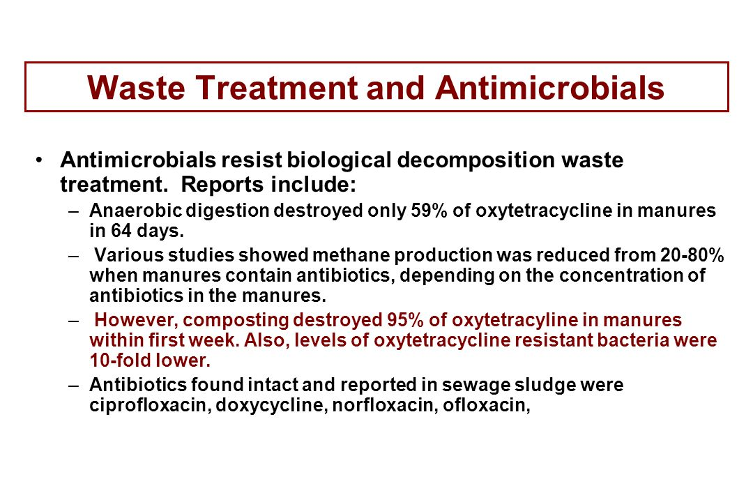 Waste Treatment and Antimicrobials