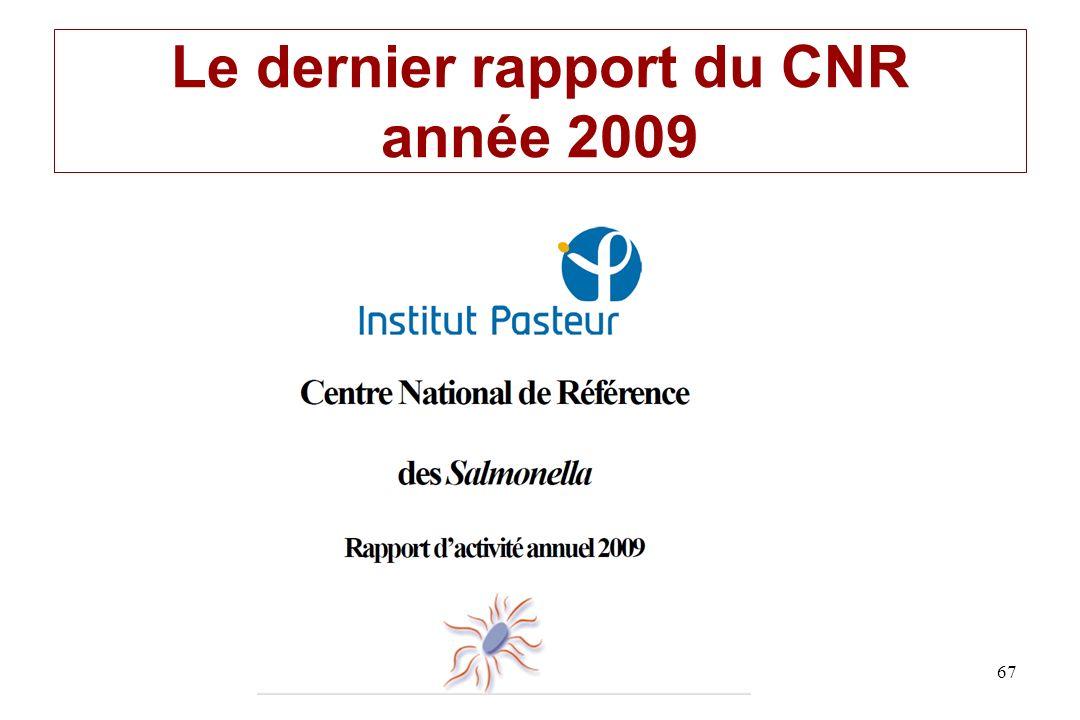 Le dernier rapport du CNR année 2009