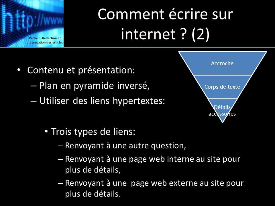 Comment écrire sur internet (2)