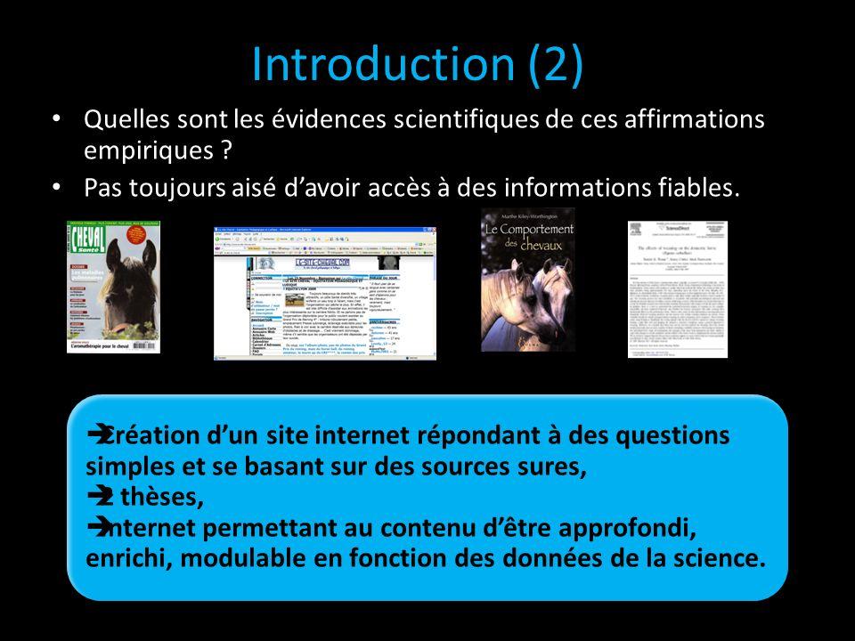 Introduction (2) Quelles sont les évidences scientifiques de ces affirmations empiriques