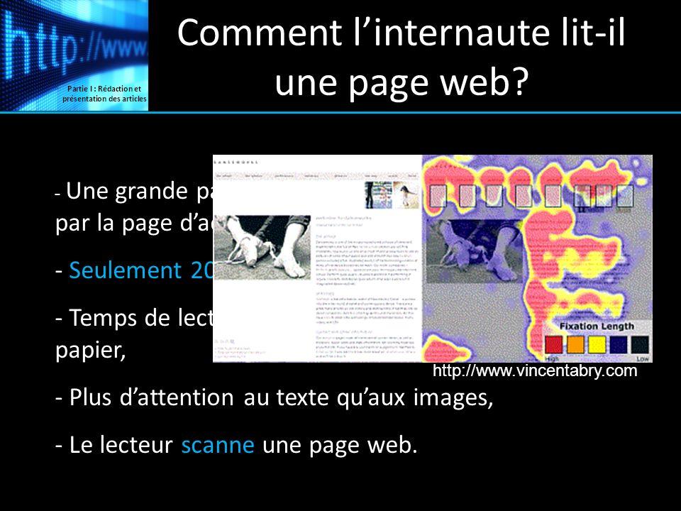 Comment l'internaute lit-il une page web