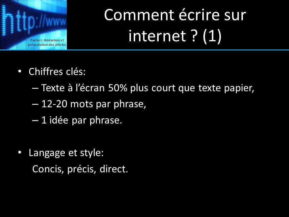 Comment écrire sur internet (1)