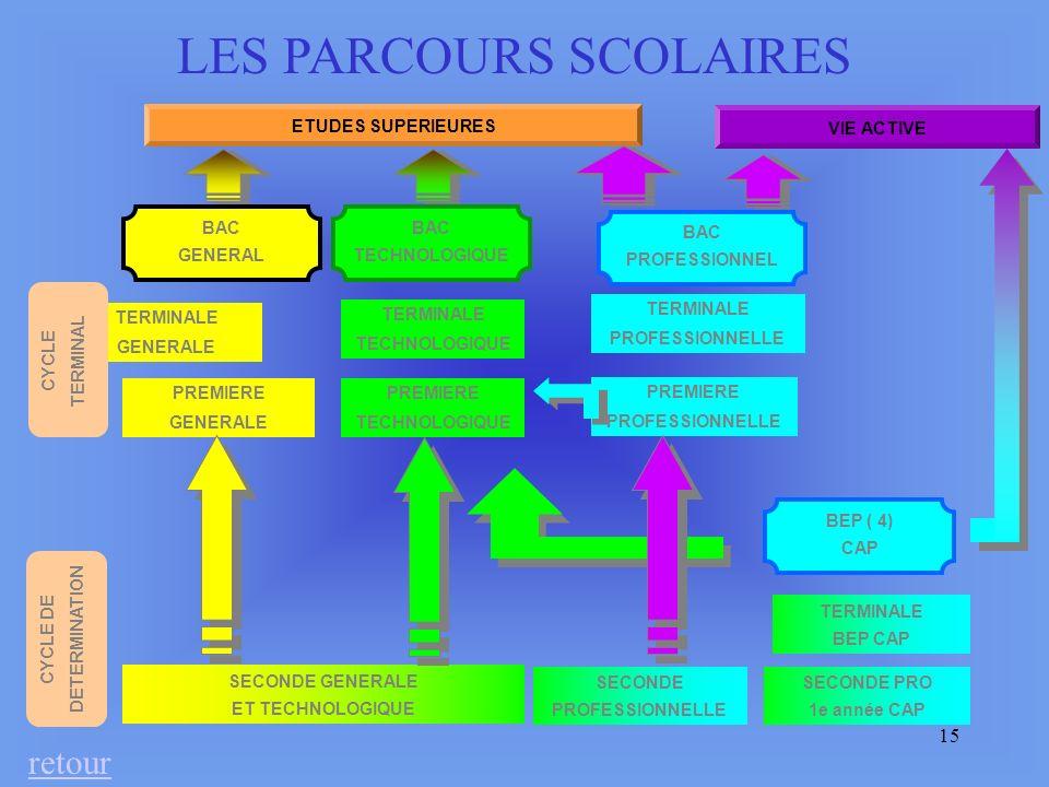 LES PARCOURS SCOLAIRES