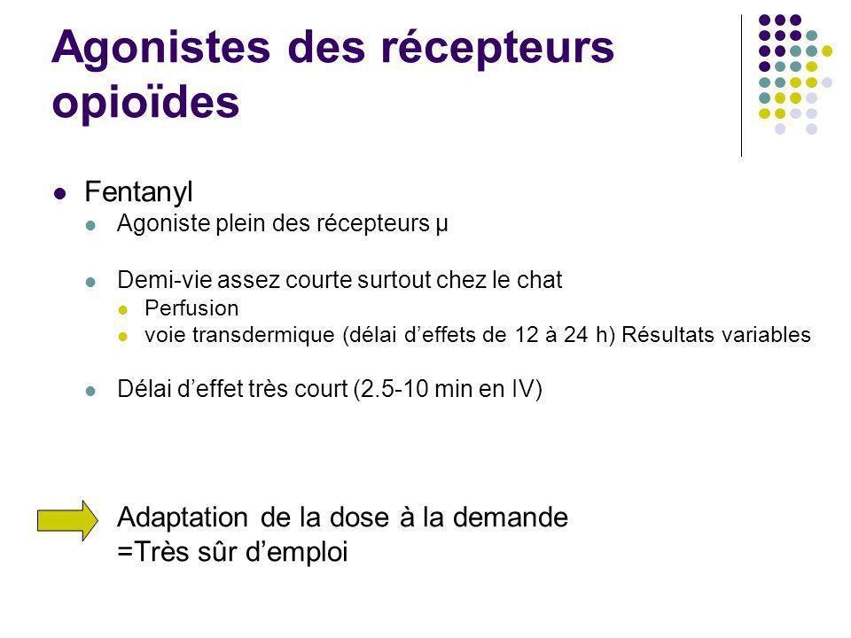 Agonistes des récepteurs opioïdes