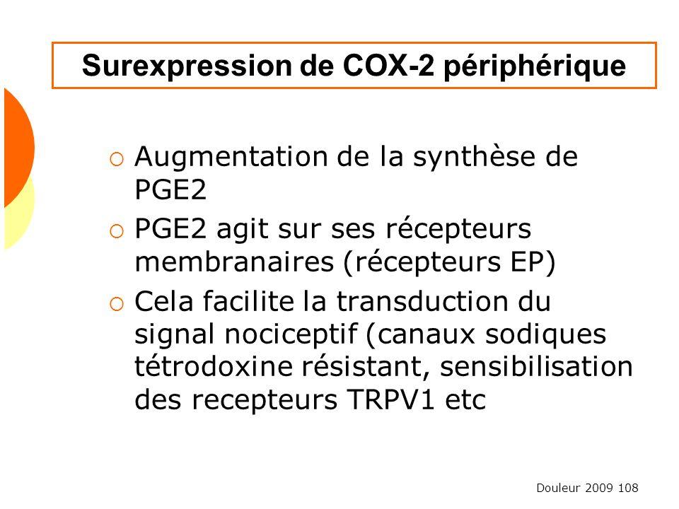 Surexpression de COX-2 périphérique