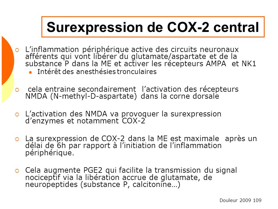 Surexpression de COX-2 central