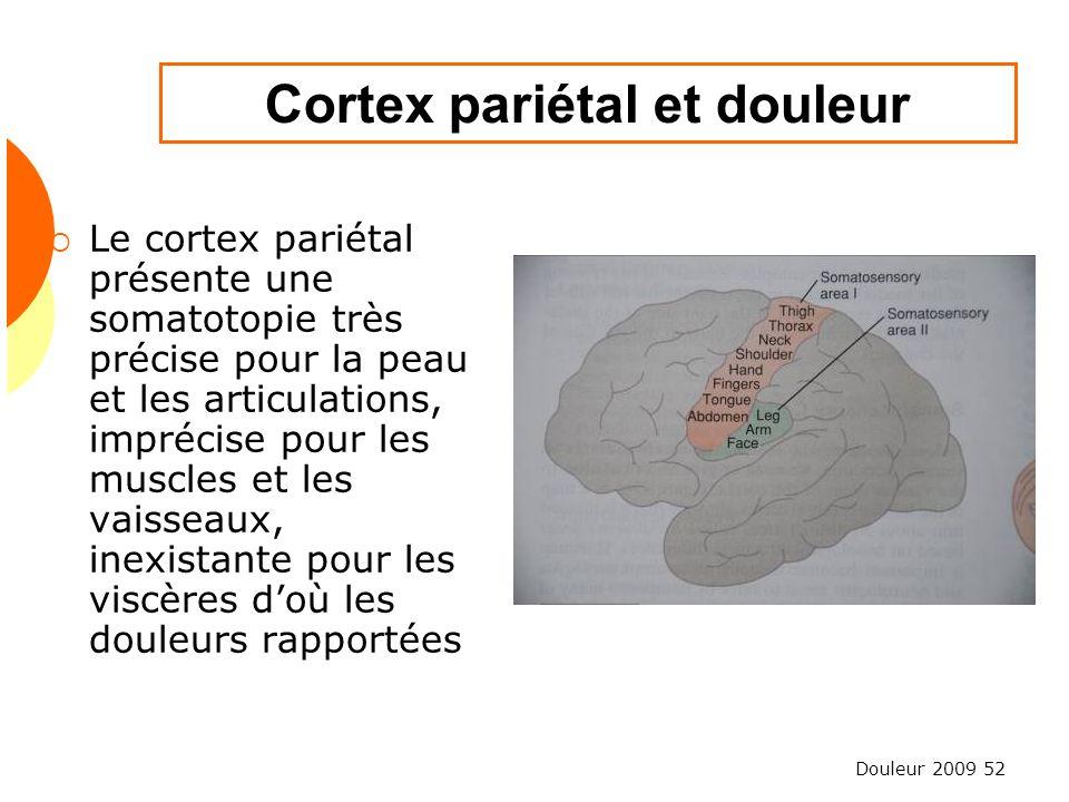 Cortex pariétal et douleur