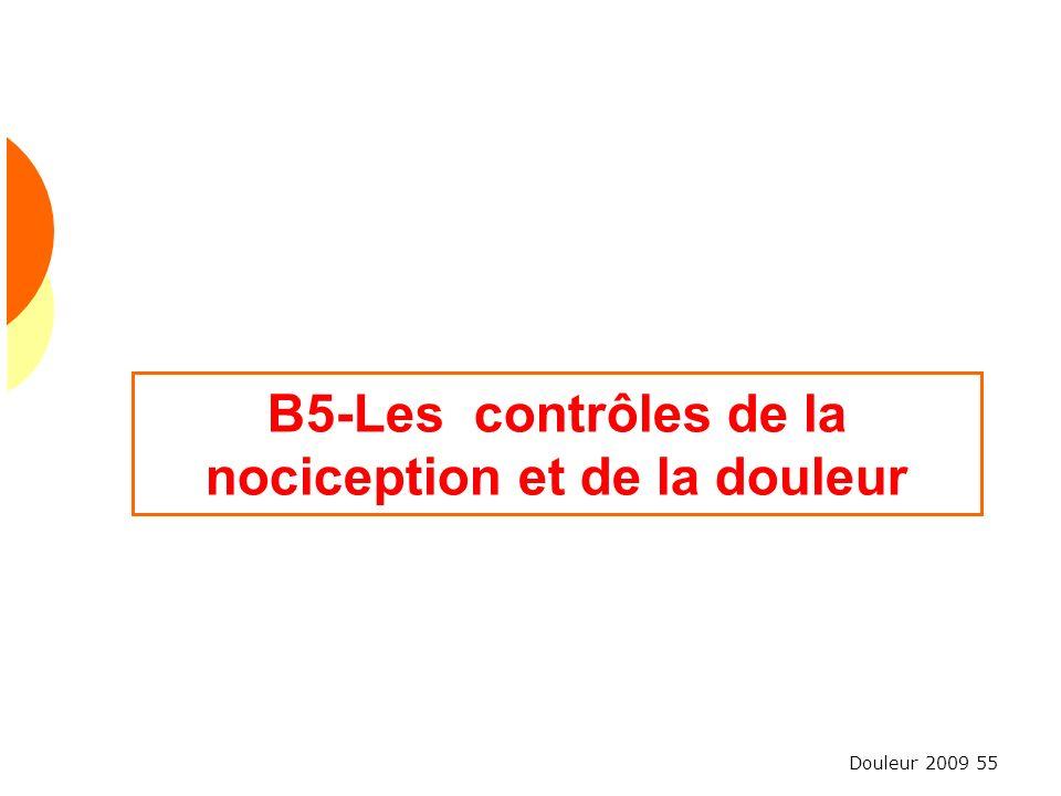 B5-Les contrôles de la nociception et de la douleur