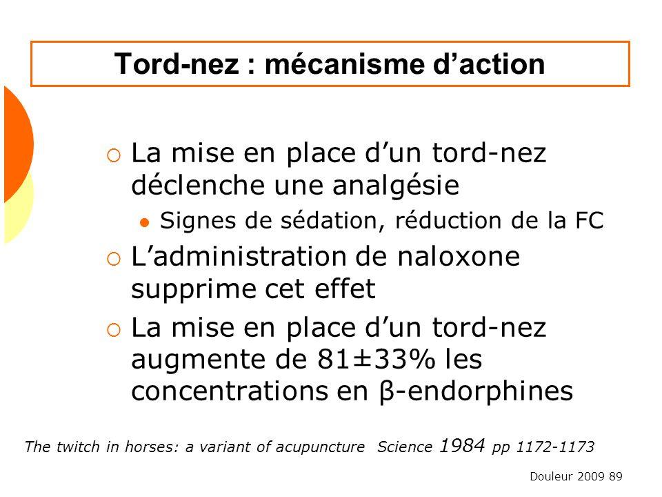 Tord-nez : mécanisme d'action