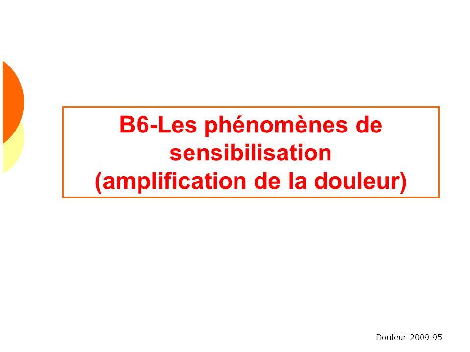 B6-Les phénomènes de sensibilisation (amplification de la douleur)