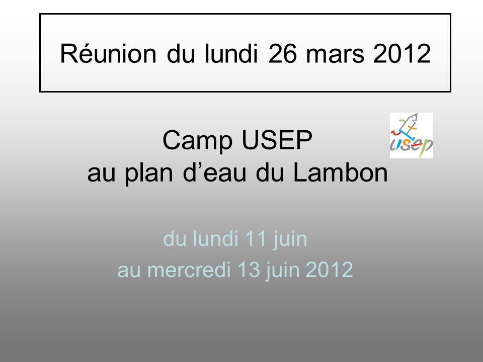 Camp USEP au plan d'eau du Lambon