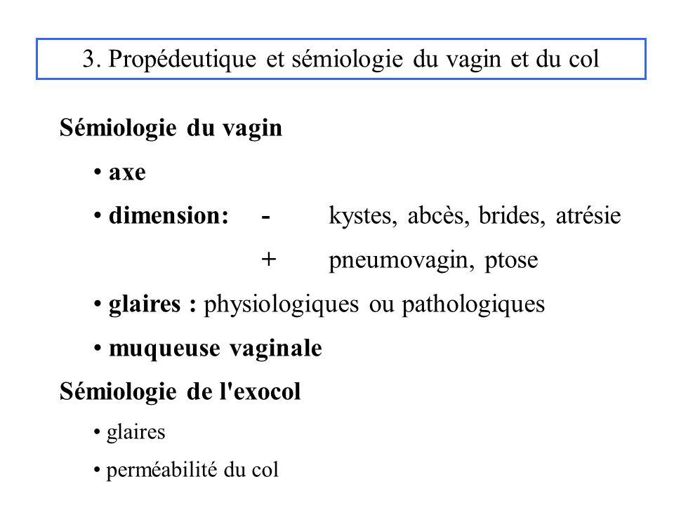3. Propédeutique et sémiologie du vagin et du col