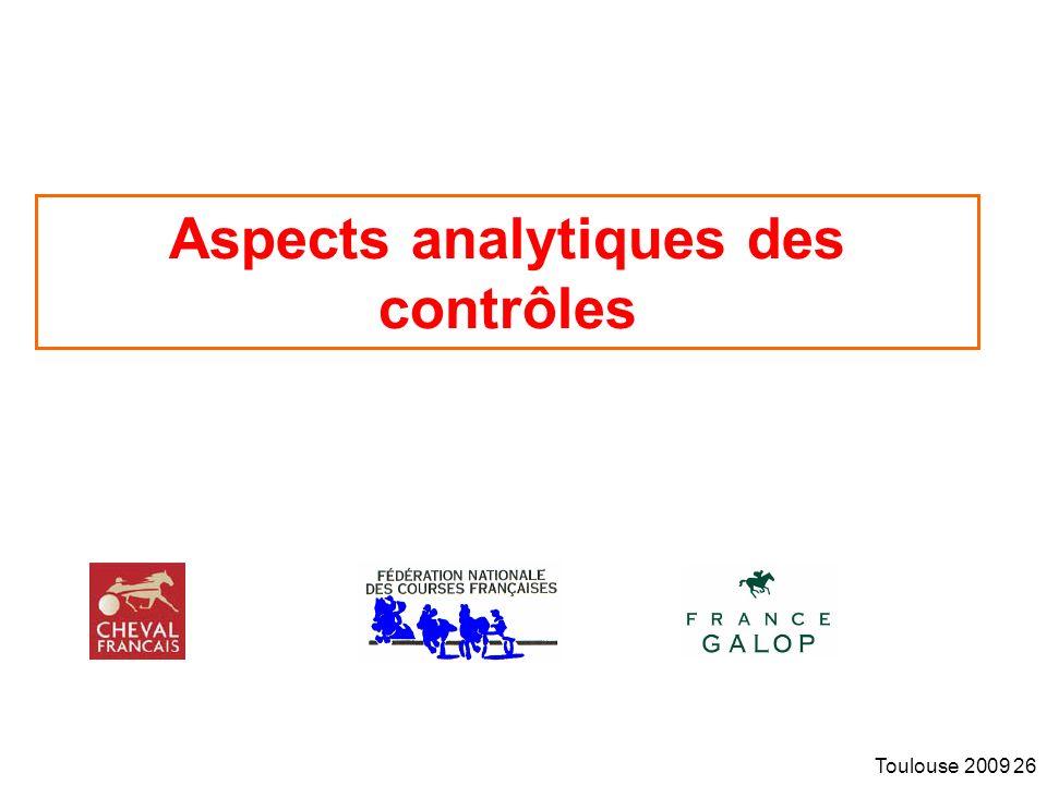 Aspects analytiques des contrôles