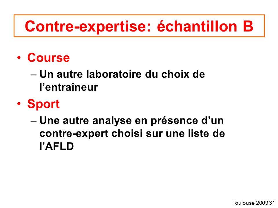 Contre-expertise: échantillon B