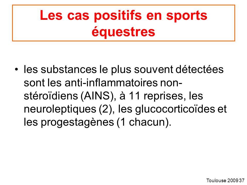 Les cas positifs en sports équestres