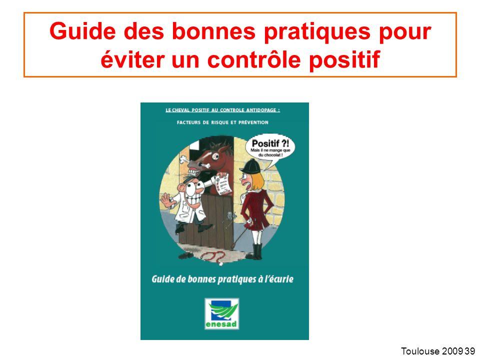 Guide des bonnes pratiques pour éviter un contrôle positif