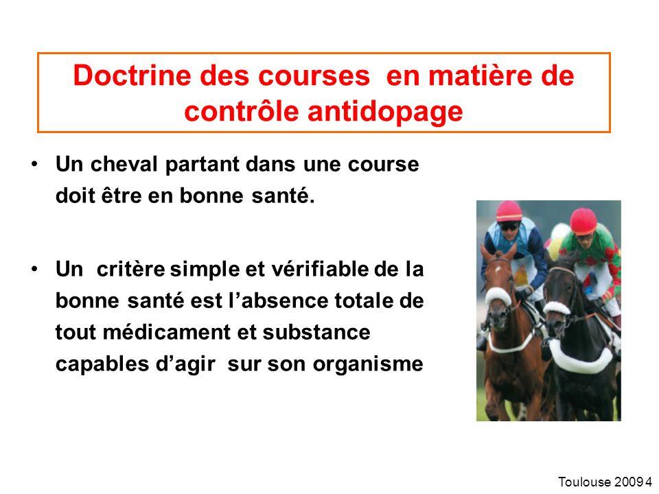 Doctrine des courses en matière de contrôle antidopage